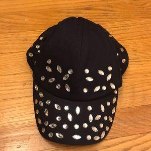 H&M Bejeweled Baseball Cap